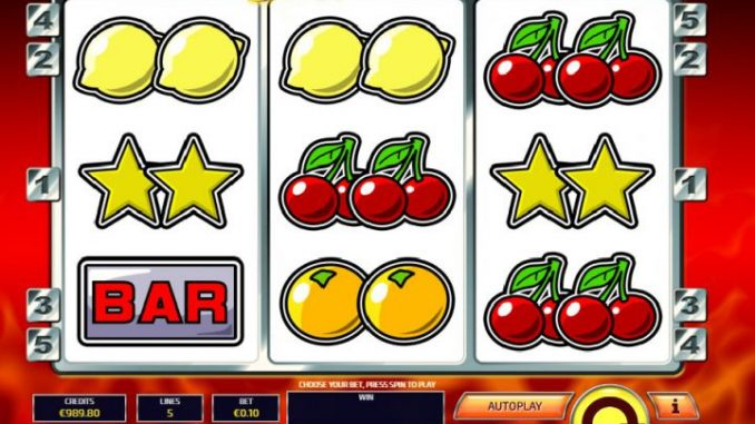 Magnet effect on slot machine