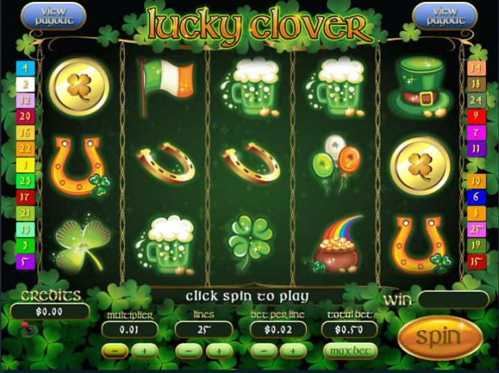 Lucky Clover slot machine screenshot