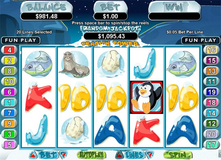 Penguin Power slot machine screenshot