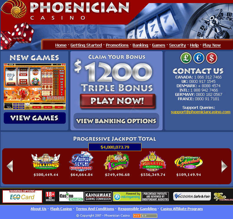 Phoenician Casino screenshot